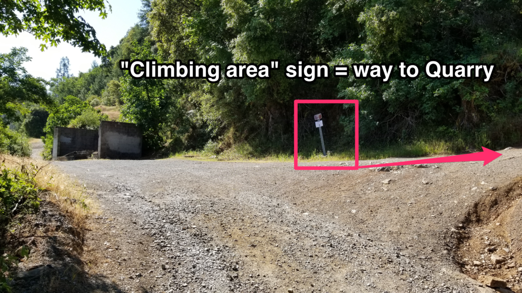 sign that indicates way to the quarry on quarry trail in auburn ca